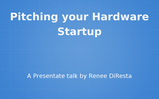 Pitching your Hardware Startup