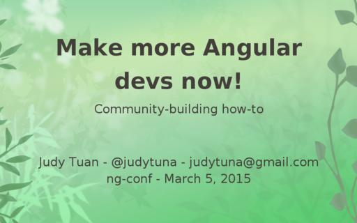 Angular & Community