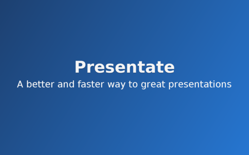 Introducing: Presentate