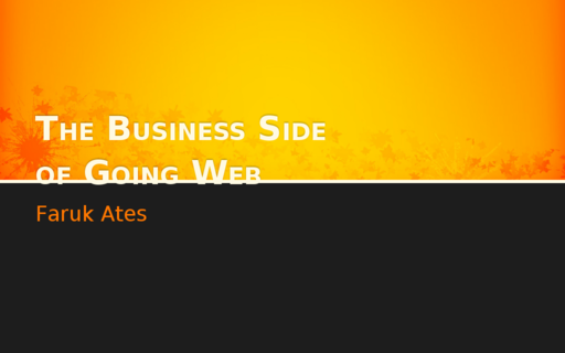 The Business Side of Going Web